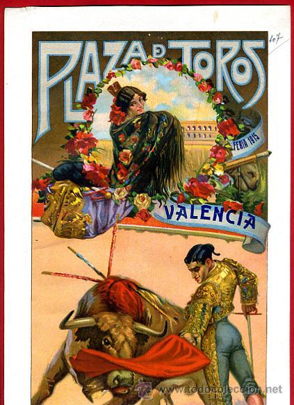 CARTEL TOROS, VALENCIA 1915 , ORIGINAL, VER FOTOS ADICIONALES, Y120 (Coleccionismo - Carteles Gran Formato - Carteles Toros)