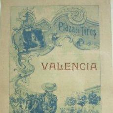 Carteles Toros: VALENCIA.-PLAZA DE TOROS 1914.-SALERI II,PACORRO Y LLAVERO. Lote 32602825