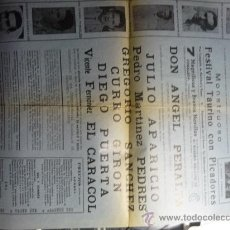 Carteles Toros: PLAZA TOROS TARRAGONA CARTEL PARA ESCAPARATE ,CARTELERAS... Lote 32708360