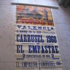 Carteles Toros: TOROS EN VALENCIA.CARRUSEL 1960 Y EL EMPASTRE.POLET,CANTINFLAS,MARX,TIN-TAN,DON METRO.RUANO LLOPIS. Lote 32747605