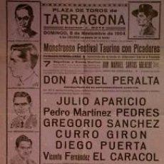 Carteles Toros: CARTEL PLAZA DE TOROS DE TARRAGONA. 1964. 32X44 CM.. Lote 33032818