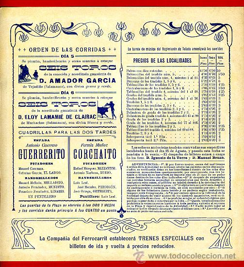 Carteles Toros: CARTEL TOROS PLAZA PEÑARANDA DE BRACAMONTE SALAMANCA , 1909 , CROMOLITOGRAFICO. PERFECTO, UNA JOYA. - Foto 2 - 33347280