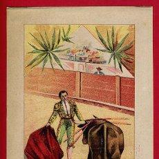 Carteles Toros: CARTEL TOROS PLAZA DE MURCIA BENEFICIO CRUZ ROJA , 1906 , CROMOLITOGRAFICO. PERFECTO, UNA JOYA.. Lote 33347161