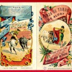 Carteles Toros: CARTEL TOROS PLAZA DE ALCOY ALICANTE , 1902 , CROMOLITOGRAFICO. PERFECTO, UNA JOYA.. Lote 33347218