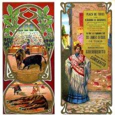 Carteles Toros: CARTEL TOROS PLAZA PEÑARANDA DE BRACAMONTE SALAMANCA , 1909 , CROMOLITOGRAFICO. PERFECTO, UNA JOYA.. Lote 33347280