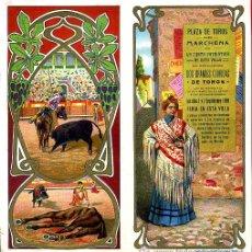 Carteles Toros: CARTEL TOROS PLAZA DE MARCHENA SEVILLA , 1909 , CROMOLITOGRAFICO. PERFECTO, UNA JOYA.. Lote 33347293