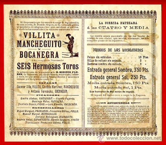 Carteles Toros: CARTEL TOROS PLAZA DE ALCOY ALICANTE , 1902 , CROMOLITOGRAFICO. PERFECTO, UNA JOYA. - Foto 2 - 33347218