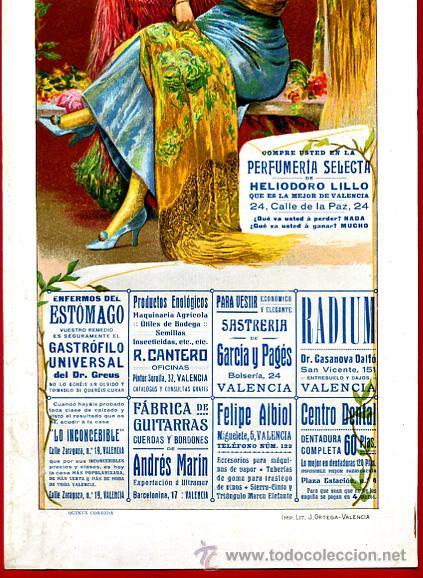 Carteles Toros: CARTEL TOROS PLAZA VALENCIA , FERIA JULIO 1915 , MANOLAS, CON PUBLICIDAD , ORIGINAL, X9 - Foto 2 - 33347635