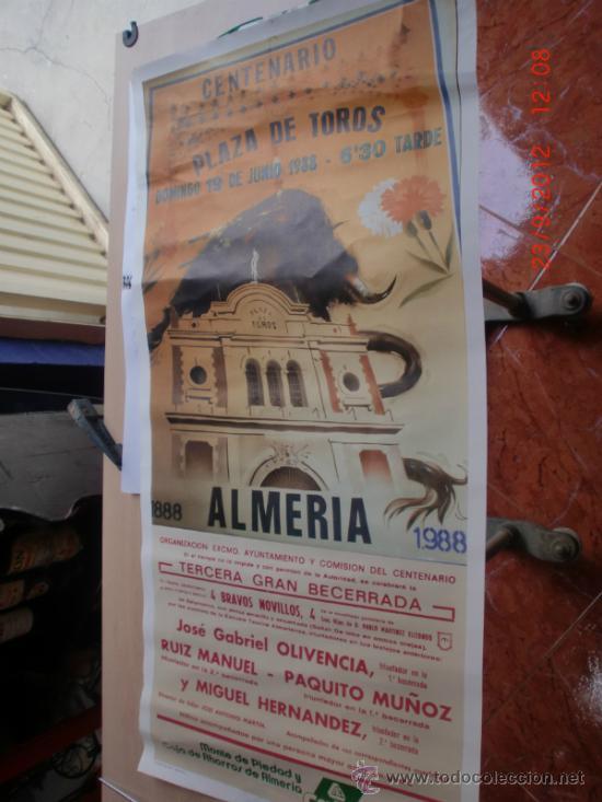 PLAZA TOROS ALMERIA. CENTENARIO PLAZA 1988 (Coleccionismo - Carteles Gran Formato - Carteles Toros)