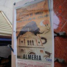 Carteles Toros: PLAZA TOROS ALMERIA. CENTENARIO PLAZA 1988. Lote 33372916