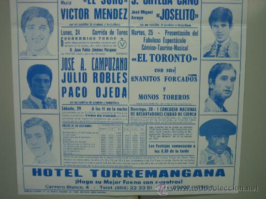 Carteles Toros: Cartel plaza de toros de CUENCA 1987. Medidas 29x44 cm - Foto 3 - 33553462