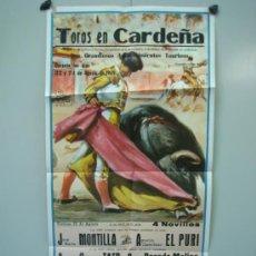 Carteles Toros: CARTEL PLAZA DE TOROS DE CARDEÑA 1969 MEDIDAS 39X79 CM. Lote 33538580