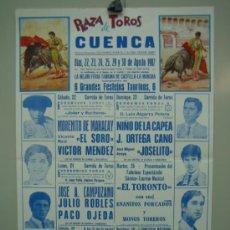 Carteles Toros: CARTEL PLAZA DE TOROS DE CUENCA 1987. MEDIDAS 29X44 CM. Lote 33553462