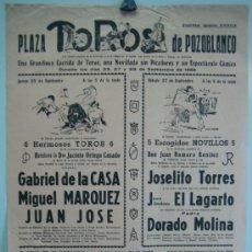 Carteles Toros: CARTEL PLAZA DE TOROS DE POZOBLANCO 1969. MEDIDAS 32X44 CM. Lote 33553567