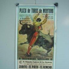 Carteles Toros: CARTEL PLAZA DE TOROS MONTORO 1973. MEDIDAS 22X47 CM. Lote 33553769