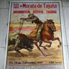 Carteles Toros: CARTEL DE TOROS DE MORATA DE TAJUÑA. 24 DE SEPTIEMBRE DE 1989. MONUMENTAL FESTIVAL TAURINO.. Lote 33961700