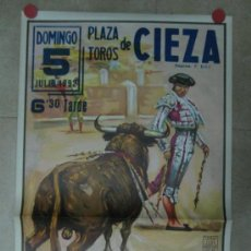 Carteles Toros: CARTEL TOROS - CIEZA, MURCIA - ILUSTRADOR: LOPEZ CANITO - AÑO 1992 - LITOFRAFIA. Lote 33997567