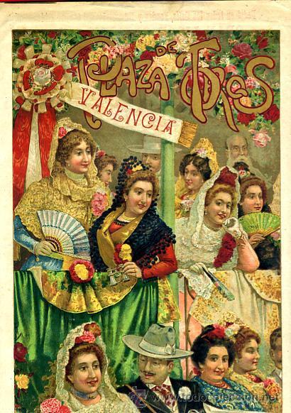 CARTEL TOROS, PLAZA CASTELLON , FERIA 1903 , PUBLICIDAD LICOR CARMELITANO , ORIGINAL , Y124 (Coleccionismo - Carteles Gran Formato - Carteles Toros)