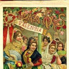 Carteles Toros: CARTEL TOROS, PLAZA CASTELLON , FERIA 1903 , PUBLICIDAD LICOR CARMELITANO , ORIGINAL , Y124. Lote 34279322