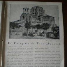 Carteles Toros: ZAMORA - COLEGIATA DE TORO - RECORTE DE PRENSA . Lote 34299669