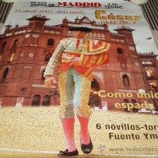 Carteles Toros: CARTEL PLAZA DE TOROS LAS VENTAS MADRID 2002. Lote 34423833
