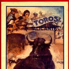 Carteles Toros: CARTEL TOROS, PLAZA DE ALICANTE , RUANO LLOPIS , 1936 , ORIGINAL, Y136. Lote 34475808