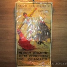 Carteles Toros: PLAZA DE TOROS MONUMENTAL,CURRO ROMERO ,EL CORDOBES,CHAMACO( DEP.LEGAL 1964). Lote 35101127