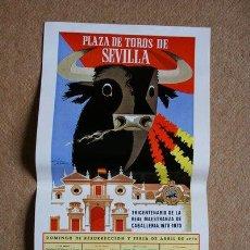 Carteles Toros: CARTEL DE TOROS DE SEVILLA. DOMINGO DE RESURRECCIÓN Y FERIA DE ABRIL DE 1970. . Lote 35877611