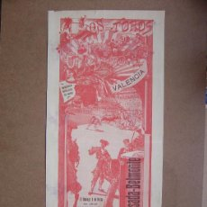 Carteles Toros: CARTEL DE TOROS PLAZA DE VALENCIA 09 DE MARZO 1913. Lote 36806604
