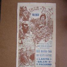 Carteles Toros: CARTEL DE TOROS PLAZA DE VALENCIA 03 DE MAYO 1914. Lote 36807566
