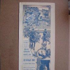 Carteles Toros: CARTEL DE TOROS PLAZA DE VALENCIA 24 DE MAYO 1914 . Lote 36808296