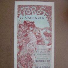Carteles Toros: CARTEL DE TOROS PLAZA DE VALENCIA 17 DE MAYO 1914 . Lote 36808632