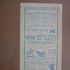 Carteles Toros: CARTEL DE TOROS PLAZA DE VALENCIA 08 DE DICIEMBRE 1912 . Lote 36809229