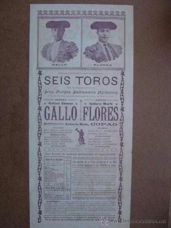 Carteles Toros: CARTEL DE TOROS PLAZA DE VALENCIA 17 DE MAYO 1914 - Foto 5 - 36808632