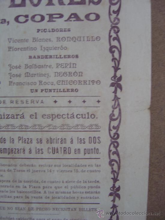 Carteles Toros: CARTEL DE TOROS PLAZA DE VALENCIA 17 DE MAYO 1914 - Foto 7 - 36808632