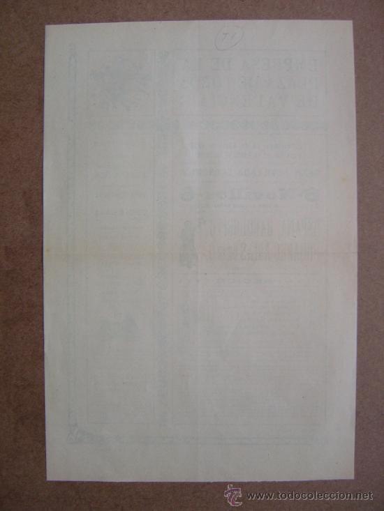 Carteles Toros: CARTEL DE TOROS PLAZA DE VALENCIA 28 DE ABRIL1912 - Foto 4 - 36809143