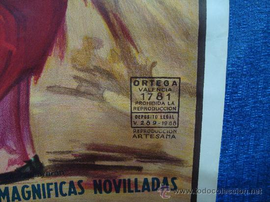 Carteles Toros: POSTER, CARTEL TAURINO FERIA DE JULIO 1988 VALENCIA, ORIGINAL, DISEÑO MARTI FONT, 1050mm X 540mm - Foto 2 - 36911755