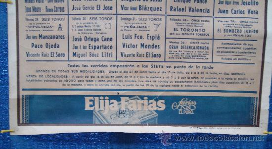 Carteles Toros: POSTER, CARTEL TAURINO FERIA DE JULIO 1988 VALENCIA, ORIGINAL, DISEÑO MARTI FONT, 1050mm X 540mm - Foto 4 - 36911755