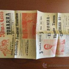 Plakate Stiere - Cartel de toros Tobarra. 5 de diciembre de 1971. 40x21cm. - 37295281