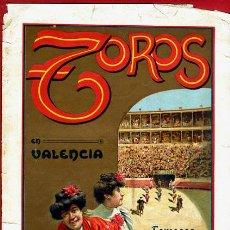 Carteles Toros: CARTEL TOROS, PLAZA VALENCIA , 1909 , FERIA , BOMBITA MACHAQUITO GALLO BOMBITA ,ORIGINAL , Y351. Lote 37519403