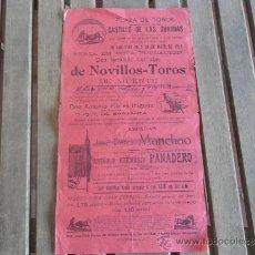 Carteles Toros: CARTEL DE TOROS PLAZA DE TOROS DEL CASTILLO DE LAS GUARDAS SEVILLA 28 29 DE MAYO 1919. Lote 37644609
