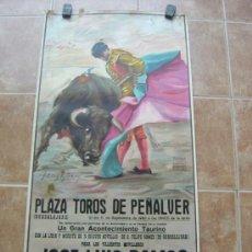 Carteles Toros: PLAZA DE TOROS DE PEÑALVER (GUADALAJARA) 1985 LITOGRAFIA- ILUSTRADOR: CROS ESTREMS. Lote 37757940