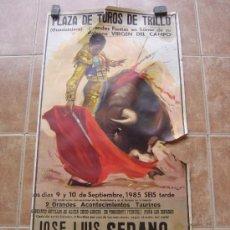 Carteles Toros: PLAZA DE TOROS DE TRUJILLO (GUADALAJARA) 1985 LITOGRAFIA- ILUSTRADOR: J.REUS. Lote 37758094