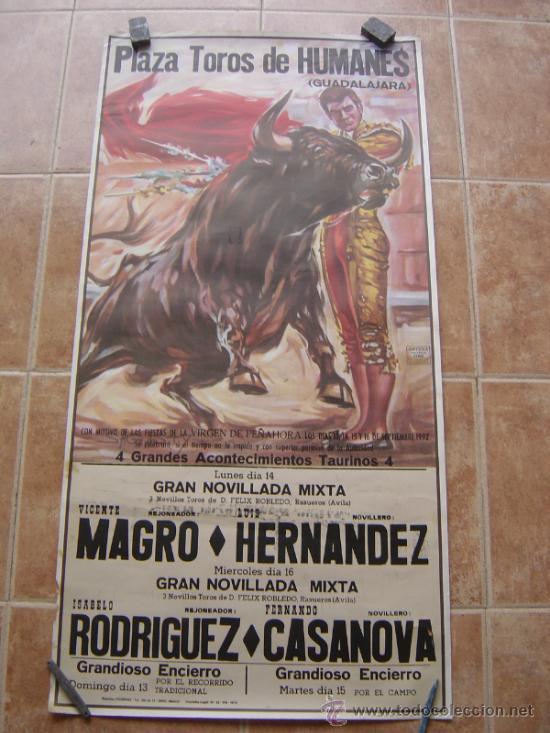 PLAZA DE TOROS DE HUMANES (GUADALAJARA) 1992 LITOGRAFIA- ILUSTRADOR: SAGUSTY (Coleccionismo - Carteles Gran Formato - Carteles Toros)