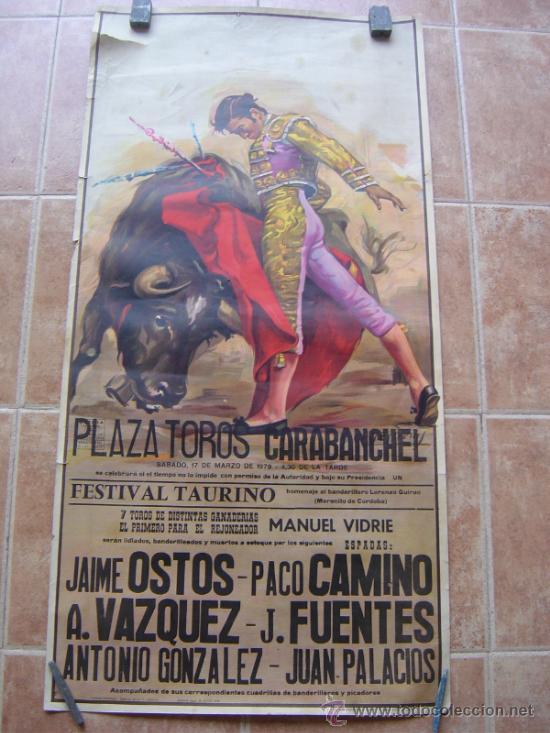 PLAZA DE TOROS DE CARABANCHEL -17 DE MARZO 1979 LITOGRAFIA- ILUSTRADOR: CROS ESTREMS (Coleccionismo - Carteles Gran Formato - Carteles Toros)