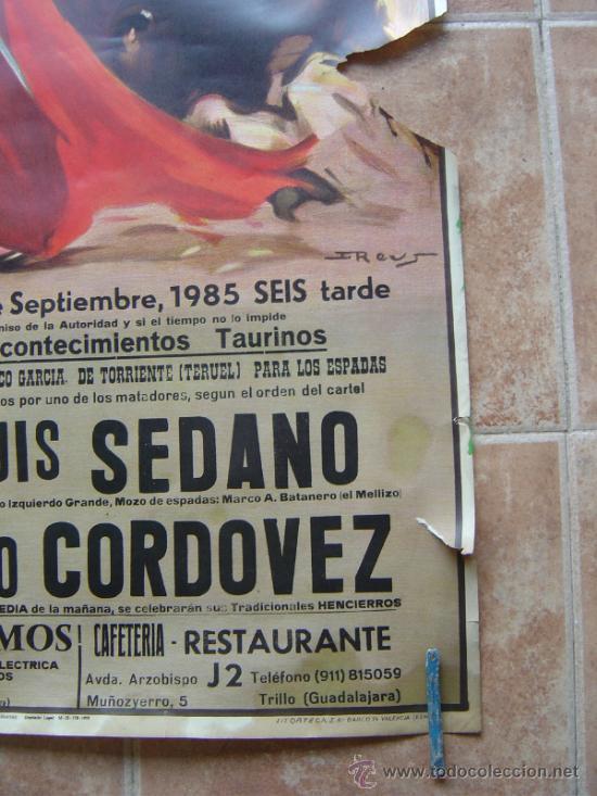 Carteles Toros: PLAZA DE TOROS DE TRUJILLO (GUADALAJARA) 1985 LITOGRAFIA- ILUSTRADOR: J.REUS - Foto 7 - 37758094