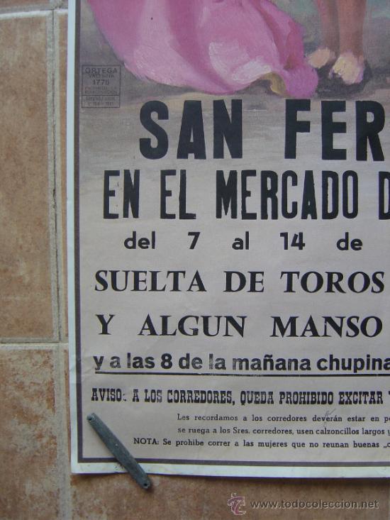 Carteles Toros: SAN FERMINES 1992 LITOGRAFIA- ILUSTRADOR: CROS ESTREMS - Foto 5 - 122071628