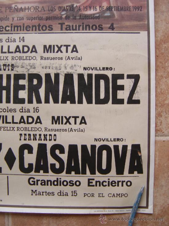 Carteles Toros: PLAZA DE TOROS DE HUMANES (GUADALAJARA) 1992 LITOGRAFIA- ILUSTRADOR: SAGUSTY - Foto 7 - 37758192