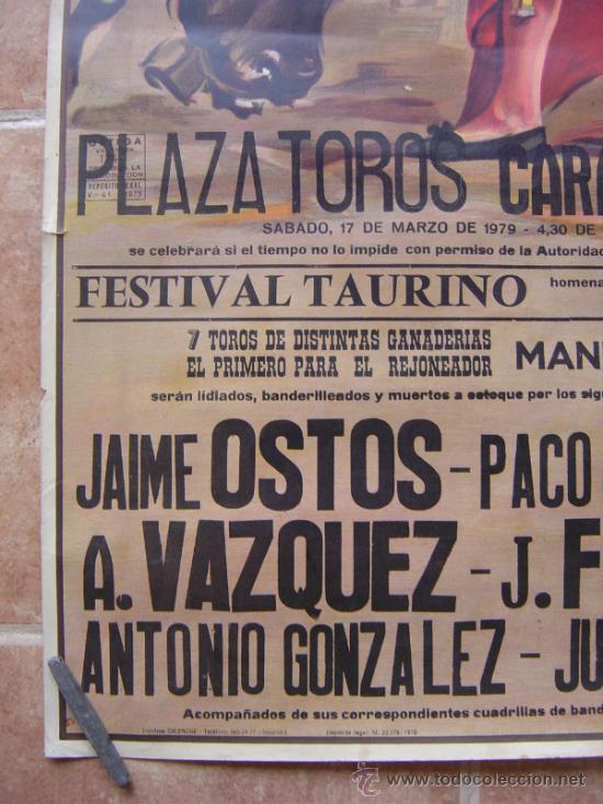 Carteles Toros: PLAZA DE TOROS DE CARABANCHEL -17 DE MARZO 1979 LITOGRAFIA- ILUSTRADOR: CROS ESTREMS - Foto 6 - 37759415