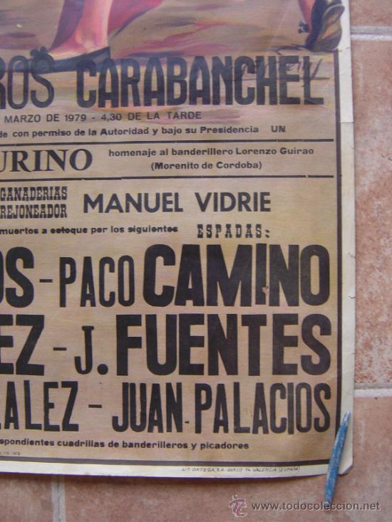 Carteles Toros: PLAZA DE TOROS DE CARABANCHEL -17 DE MARZO 1979 LITOGRAFIA- ILUSTRADOR: CROS ESTREMS - Foto 7 - 37759415